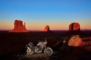 red rocks arizona utah tenere 700