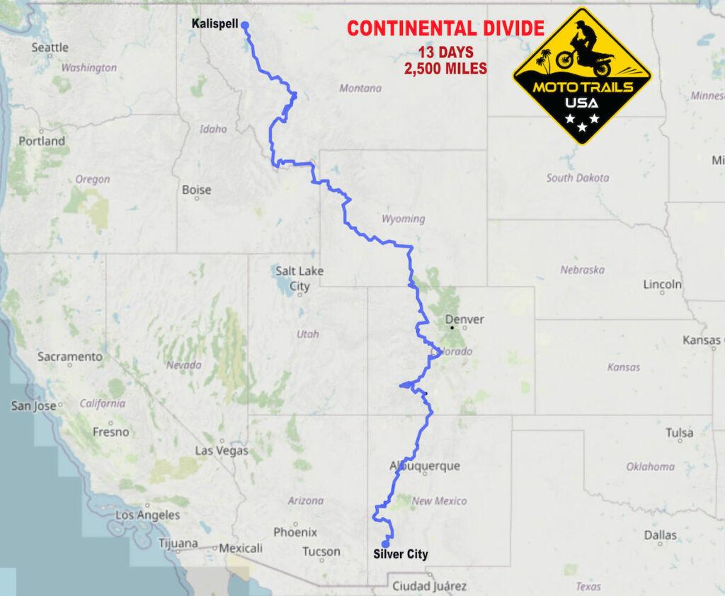 map continental divide Moto Trails USA Tenere