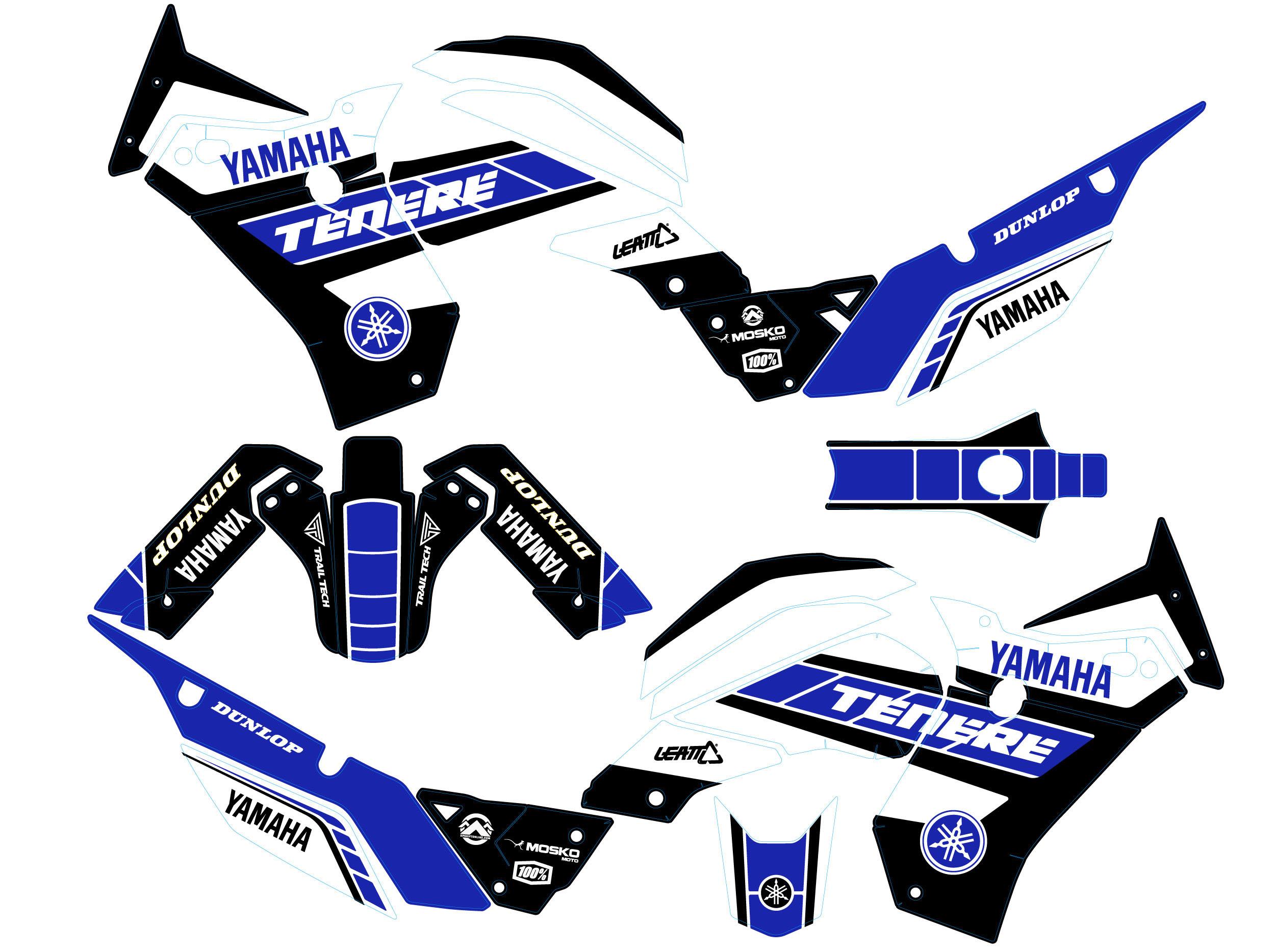 Graphic kit blue yamaha tenere 700